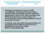 vendor agreements meeting documentation requirements gm 13c1