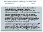 vendor agreements meeting documentation requirements gm 13c2