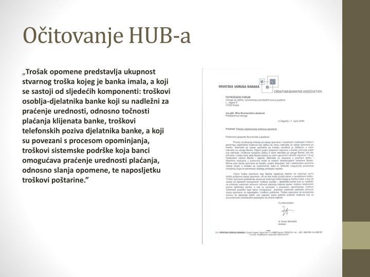 Očitovanje HUB-a