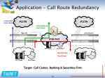 application call route redundancy