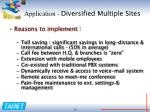 application diversified multiple sites1