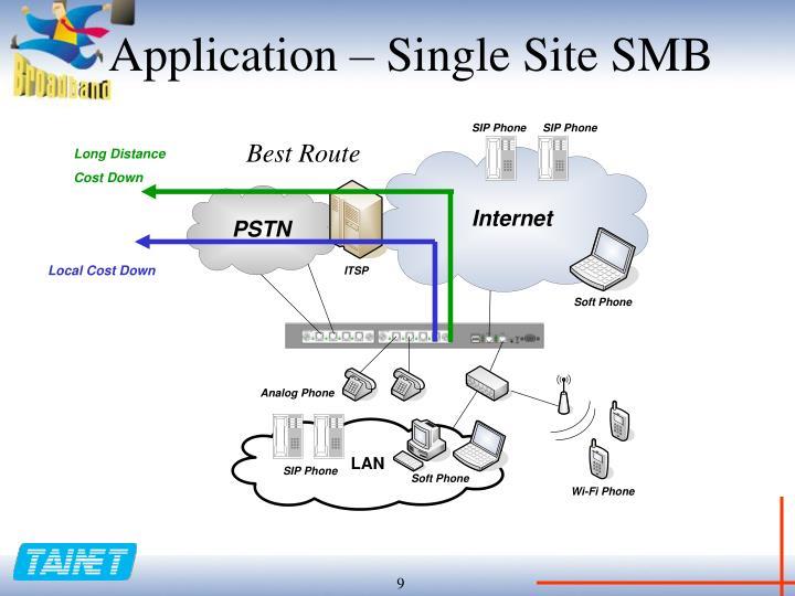 Application – Single Site SMB