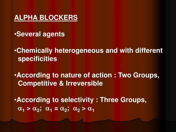 ALPHA BLOCKERS
