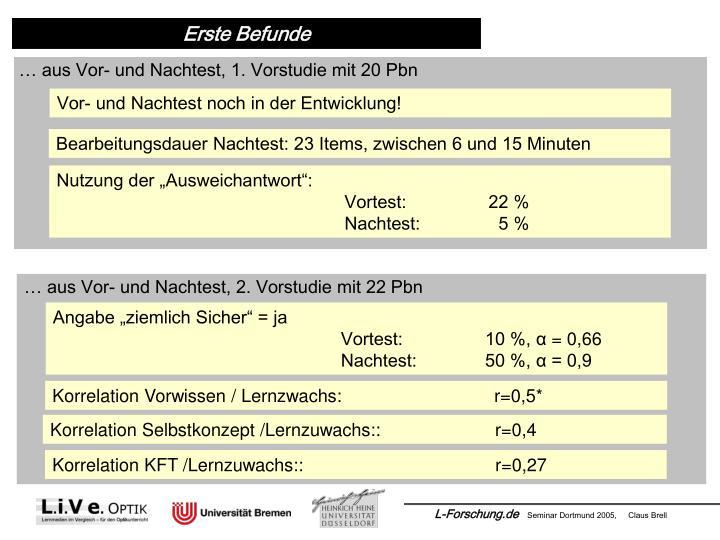 Korrelation Vorwissen / Lernzwachs:  r=0,5*