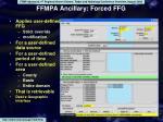 ffmpa ancillary forced ffg