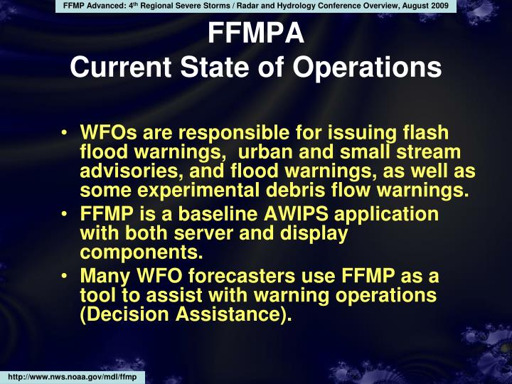 Ffmpa current state of operations