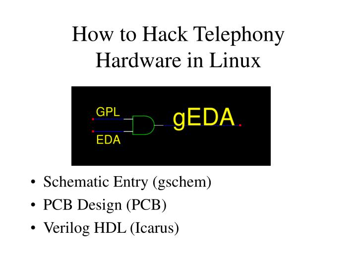 How to Hack Telephony Hardware in Linux