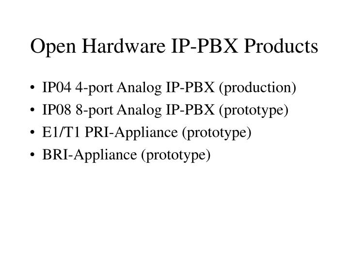 Open Hardware IP-PBX Products