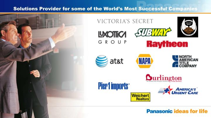 Solutions Provider for some of the World's Most Successful Companies