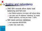 scaling and redundancy1