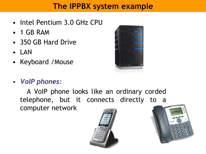 The IPPBX system example