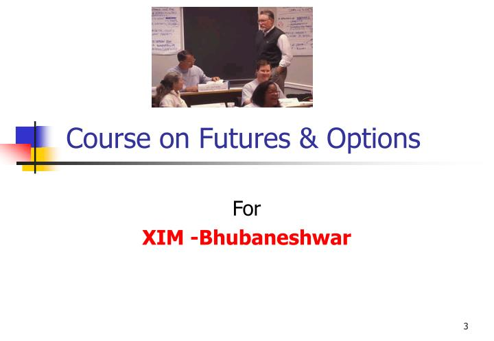 Course on futures options