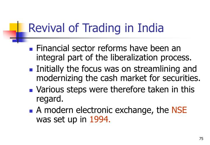 Revival of Trading in India
