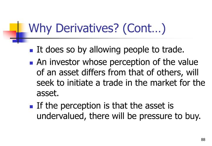 Why Derivatives? (Cont…)