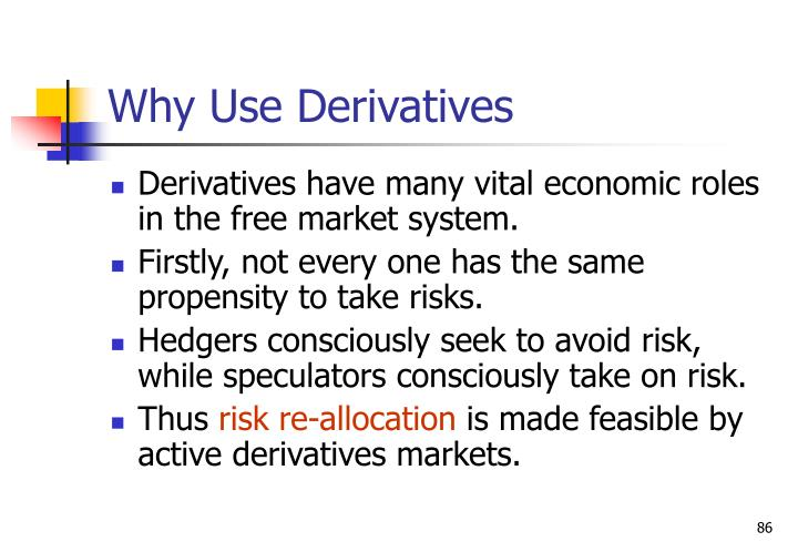 Why Use Derivatives