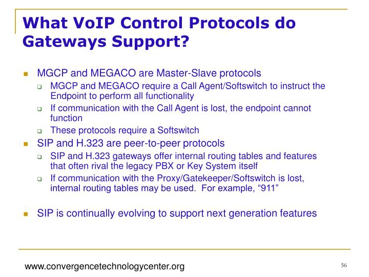 What VoIP Control Protocols do Gateways Support?