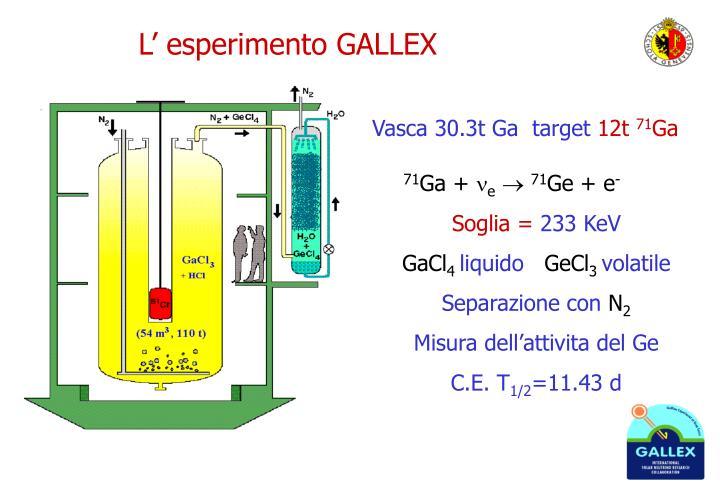 L' esperimento GALLEX