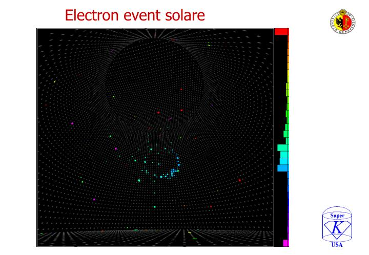 Electron event solare
