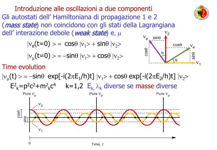 Introduzione alle oscillazioni a due componenti