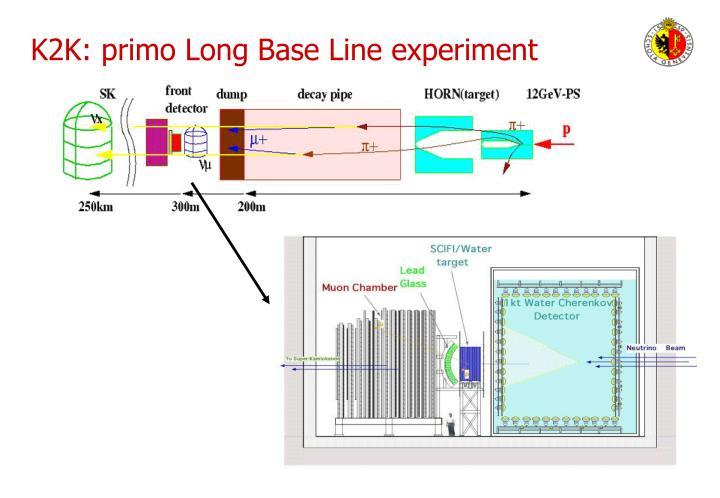 K2K: primo Long Base Line experiment