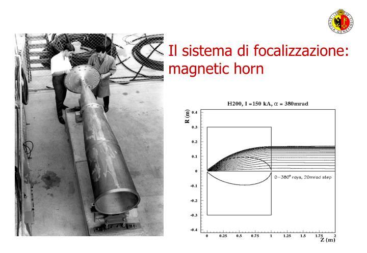 Il sistema di focalizzazione: magnetic horn