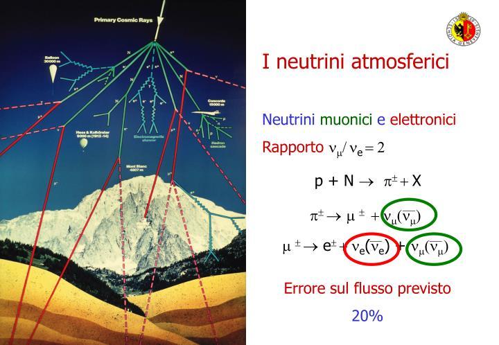I neutrini atmosferici