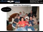 meet the developers
