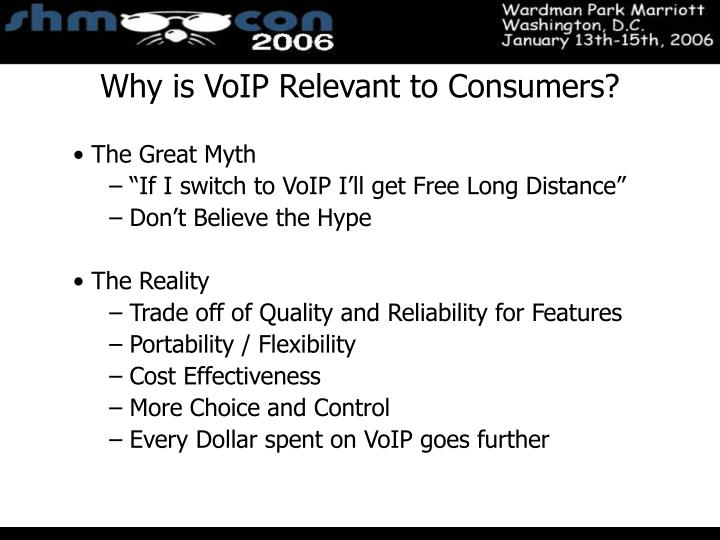 Why is VoIP Relevant to Consumers?