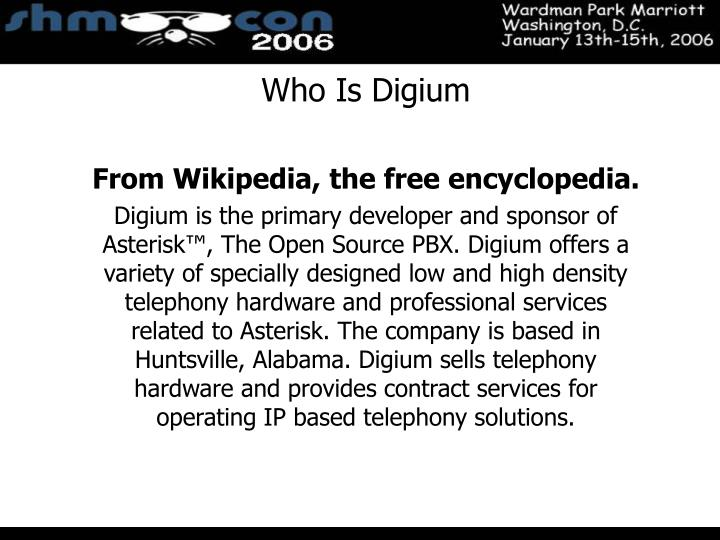 Who Is Digium