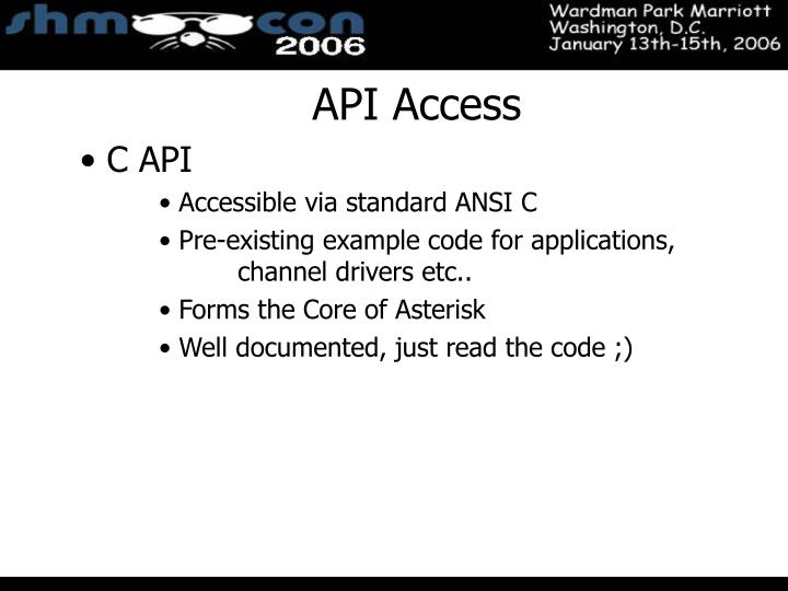 API Access