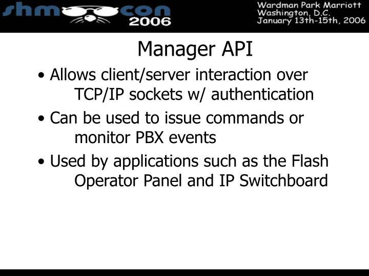 Manager API