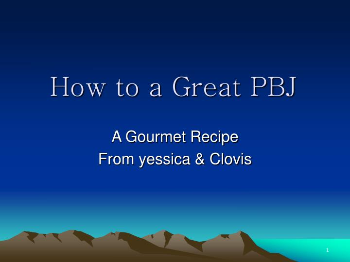 how to a great pbj