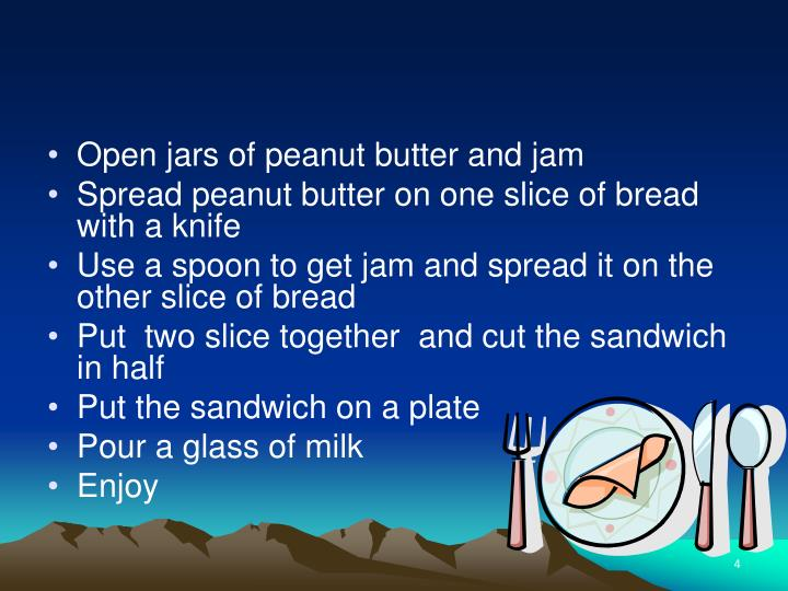 Open jars of peanut butter and jam