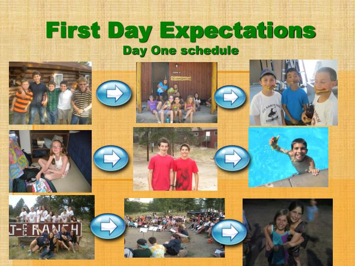 First Day Expectations