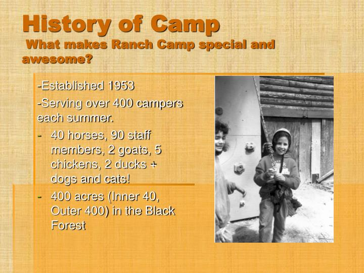 History of Camp