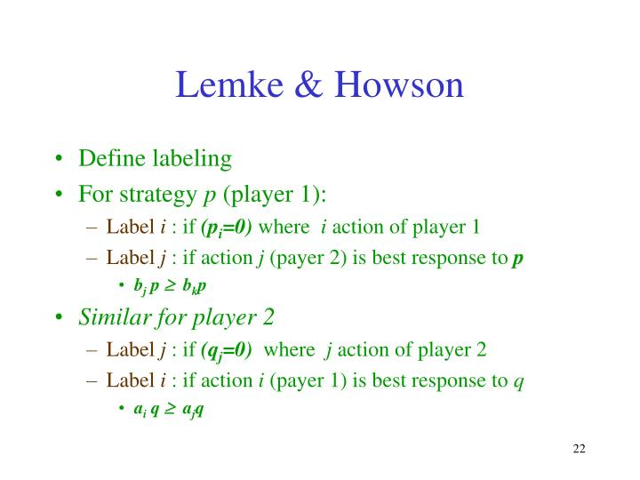 Lemke & Howson
