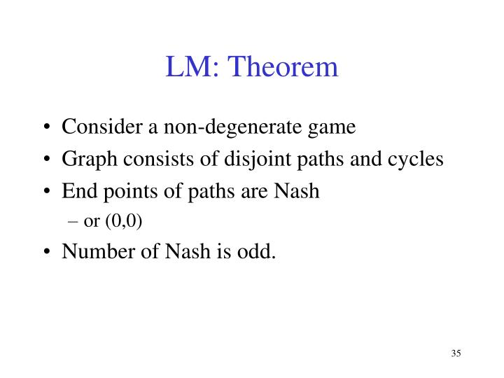 LM: Theorem
