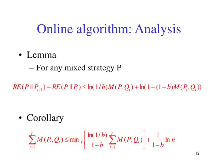 Online algorithm: Analysis