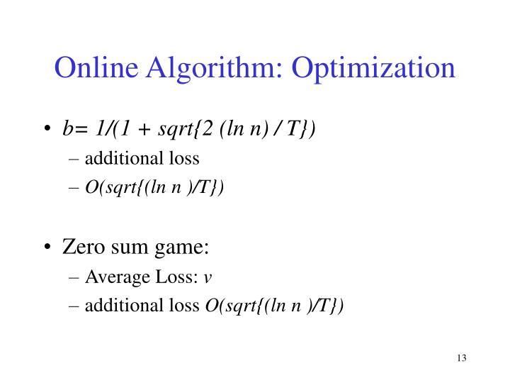 Online Algorithm: Optimization