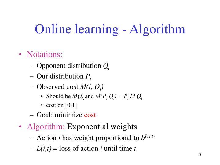 Online learning - Algorithm