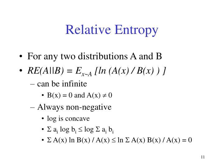 Relative Entropy