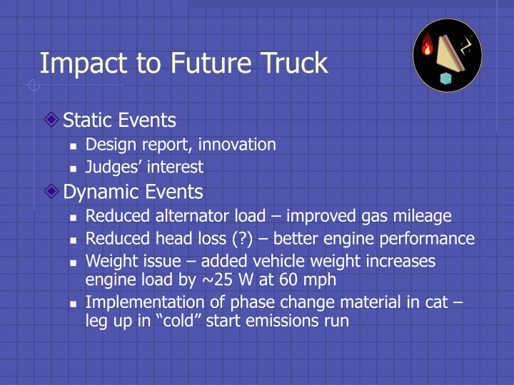 Impact to Future Truck