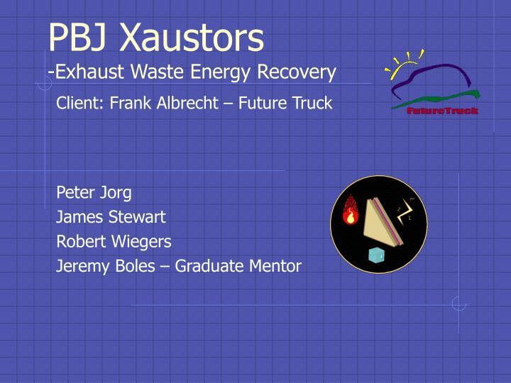 pbj xaustors exhaust waste energy recovery