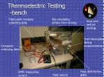 thermoelectric testing bench