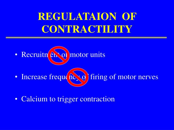 REGULATAION  OF  CONTRACTILITY