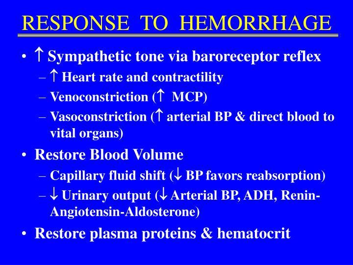 RESPONSE  TO  HEMORRHAGE