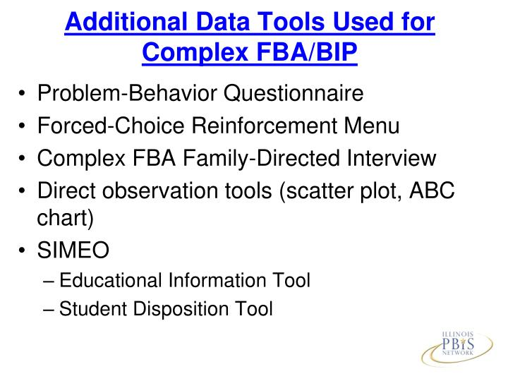 Additional Data Tools Used for