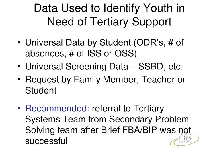 Data Used to Identify Youth in Need