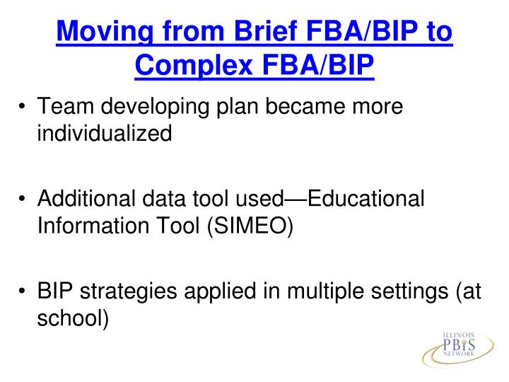 Moving from Brief FBA/BIP to Complex FBA/BIP