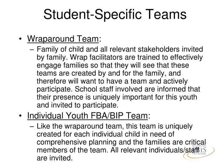 Student-Specific Teams